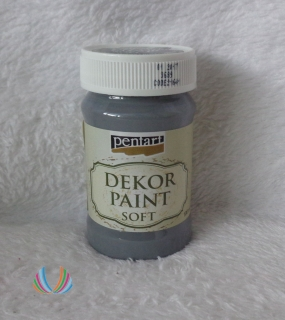 Decor Paint Soft 100ml-grafitová
