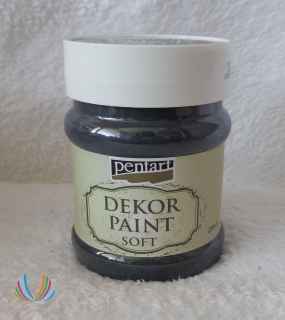 Decor Paint Soft 230ml-čierna