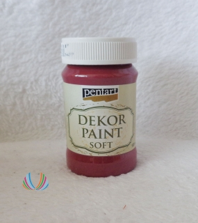 Decor Paint Soft 100ml-burgundská červená