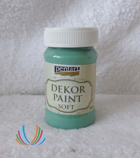 Decor Paint Soft 100ml-tyrkysovo zelená