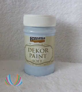 Decor Paint Soft 100ml-ľadová modrá