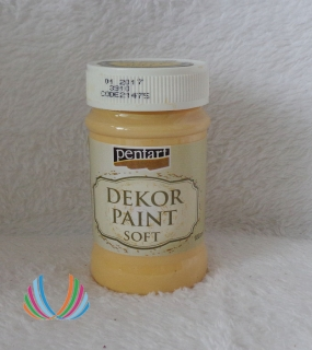 Decor Paint Soft 100ml-mandarínková