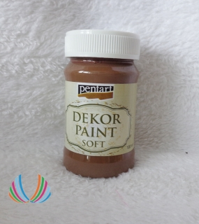 Decor Paint Soft 100ml-hnedá