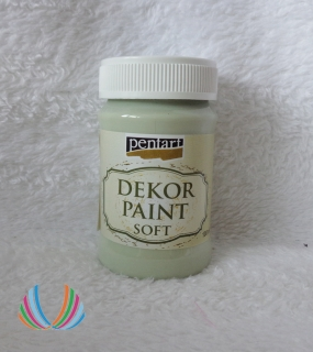 Decor Paint Soft 100ml-lišajníkovo zelená